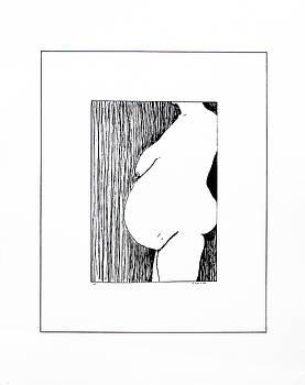Nude in Ink - II by Vasil Vasilev