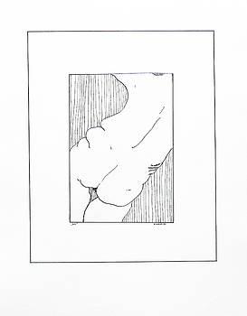 Nude in Ink - VII by Vasil Vasilev