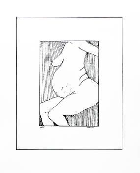 Nude in Ink - VIII by Vasil Vasilev