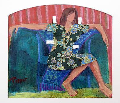 Nude in Paper Doll Dress by Betty Pieper