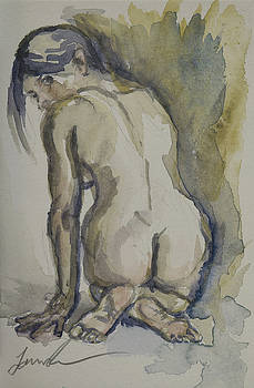 Nude Looking Back by Laura Ross