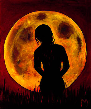 Nude moon red wine by Rolly Mouchaty