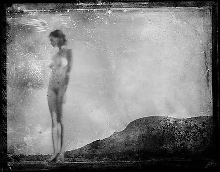 Nude on the Fence, Galisteo by Jennifer Wright