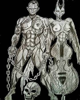 Nude Sketch 17 by Mark Bradley