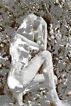 Nude Study in Chalk by Mario Carini