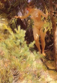 Zorn Anders - Nude Under A Fir 1892