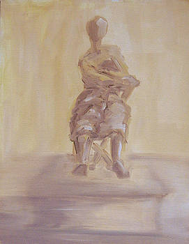 Nude with blanket by Pamela Canzano