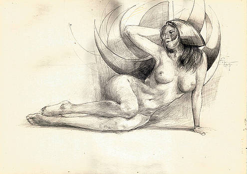 Nude with crescent by Ertan Aktas