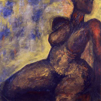 Nude with red arm by Pamela Canzano