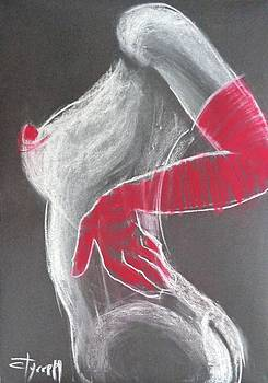 Nude With Red Gloves by Carmen Tyrrell