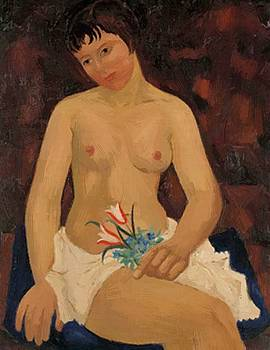 Wood Christopher - Nude With Tulips 1926