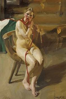 Zorn Anders - Nude Woman Arranging Her Hair 1907