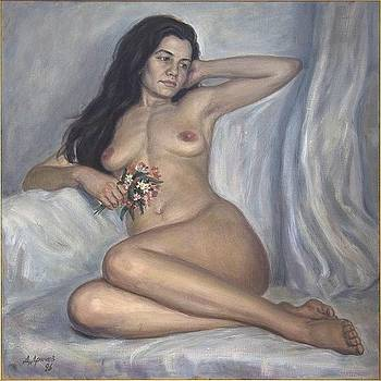 Nude woman by Dionisii Donchev