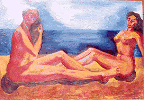 Nudes on beach by Biagio Civale