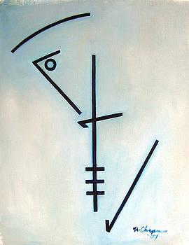 Number Five Blue Monk by Martel Chapman