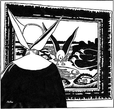 Nun and Gull by Peggy De Haan