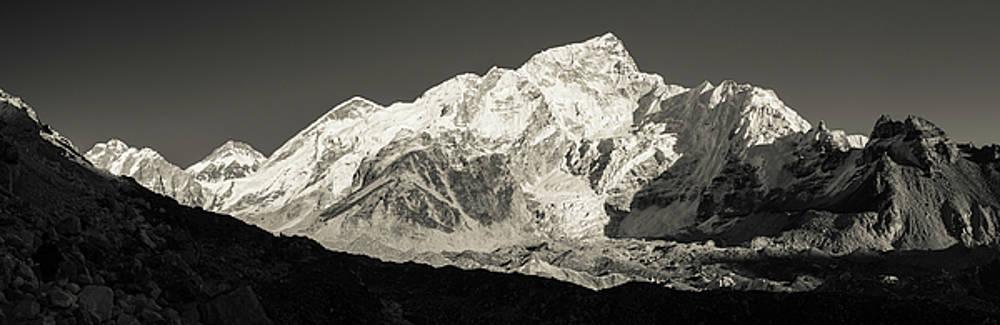 Nuptse Peak on the Khumbu Glacier by Owen Weber