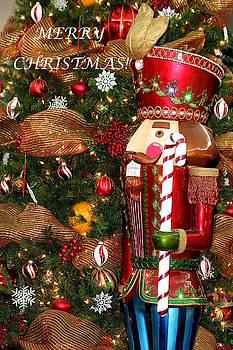 Nutcracker and Christmas Tree by Sheila Brown