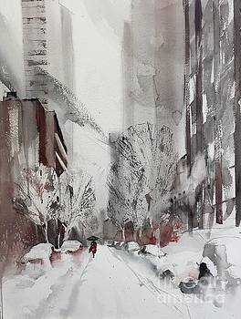 NY in Snow by John Byram