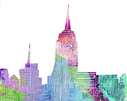 NY skyline I by Marilu Windvand