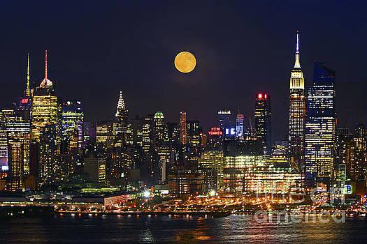 Regina Geoghan - NY Skyline Sturgeon Moonrise
