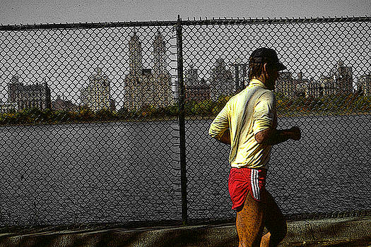 New York Central Park Jogger by Art America Gallery Peter Potter