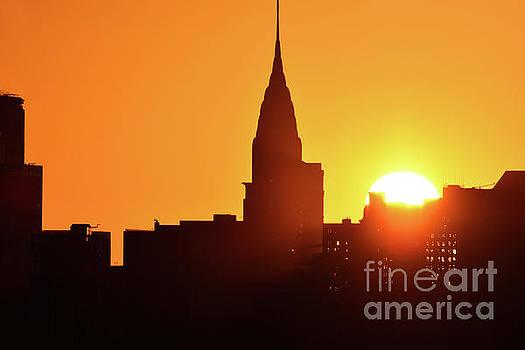 Regina Geoghan - NYC Chrysler Building Sunrise Silhouette