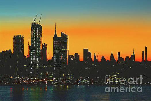 Regina Geoghan - NYC Dawn Skies in Orange and Teal
