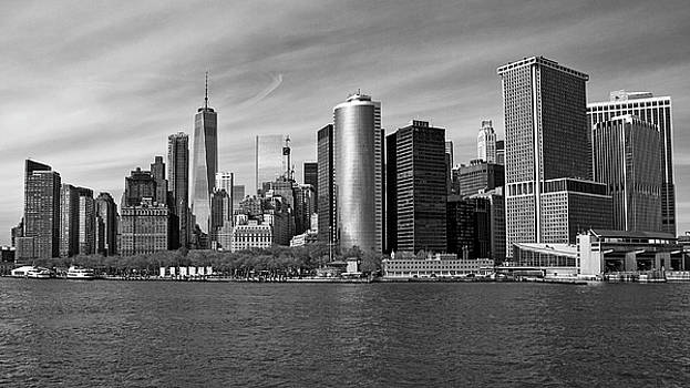 NYC From the Staten Island Ferry by Frank Morales Jr
