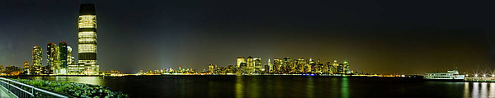 Val Black Russian Tourchin - NYC Night Skyline Panorama 1