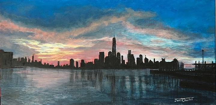 NYC Sunrise Slihouette by Joel Charles