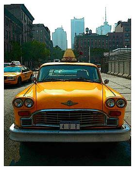 NYC Taxi by New York City - Artist Alexander Aristotle