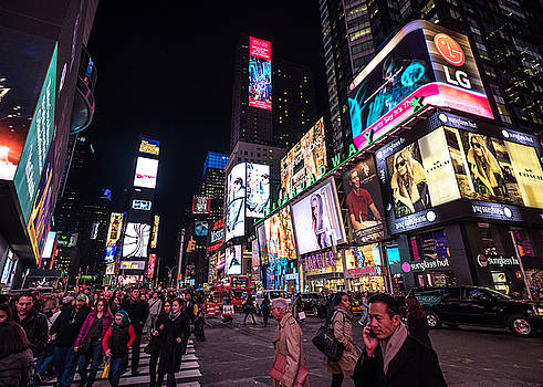 NYC Times Square at Night by Alan Roberts