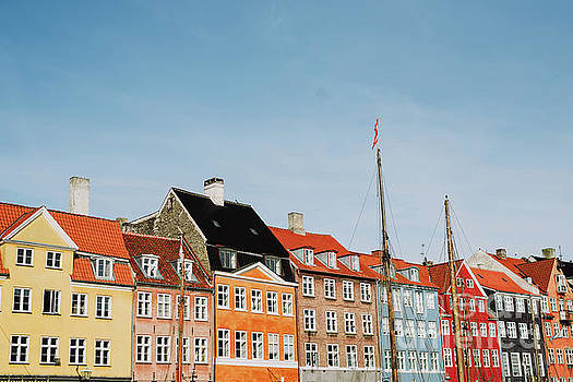 Nyhavn in Denmark by Viktor Pravdica