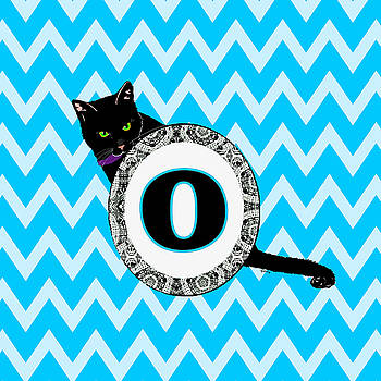 O Cat Chevron Monogram by Paintings by Gretzky
