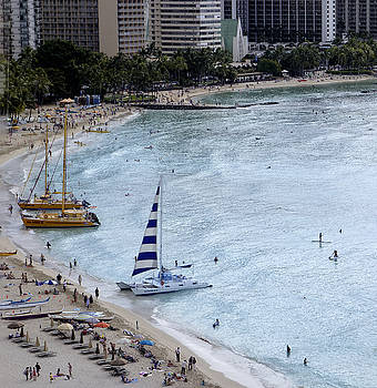 Jan Hagan - Oahu Beach Sailboats