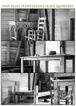 Kathleen K Parker - Oak Alley Slave Quarters - Charcoal Triptych