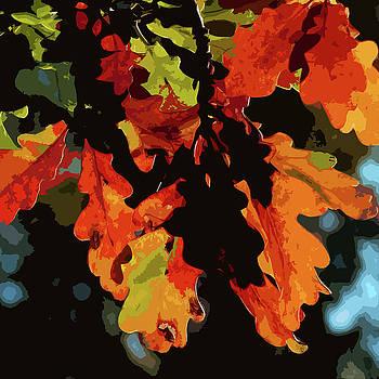 James Hill - Oak Leaves in Autumn
