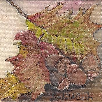 Oak Leaves by Linda Clark
