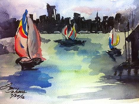 Oakland Sailing by Lynn Takacs