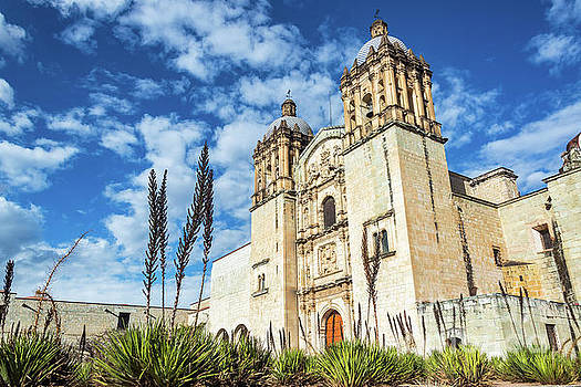 Oaxaca Church and Beautiful Sky by Jess Kraft