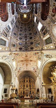 Oaxaca Church Interior Panorama by Jess Kraft