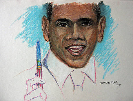 Obama and his pen by John Cummings