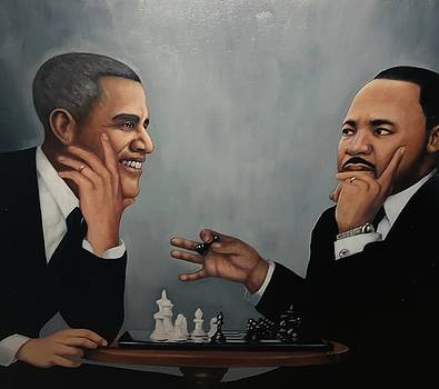 Obama and King by Harry T Ellis