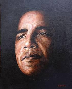 Obama Reflecting by Doug Norton