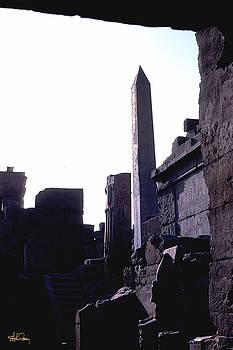 Obelisk in Luxor, Egypt by Stephen Fanning