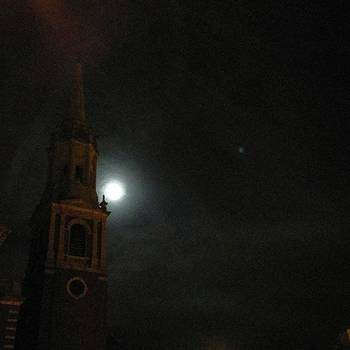 Obligatory #supermoon Shot. #church by Annette Holland