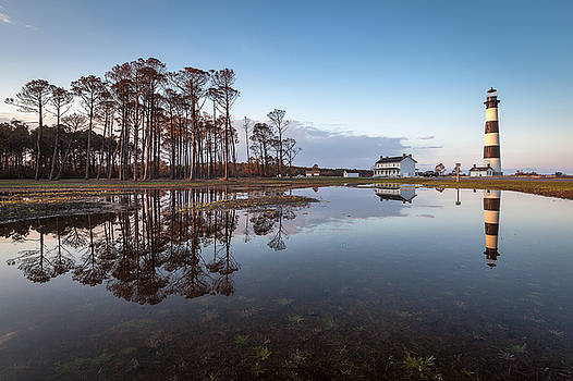 OBX Bodie Island Lighthouse Reflected by Mark VanDyke