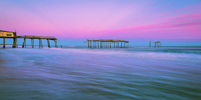 Ranjay Mitra - OBX Frisco Fishing Pier Sunset Panorama
