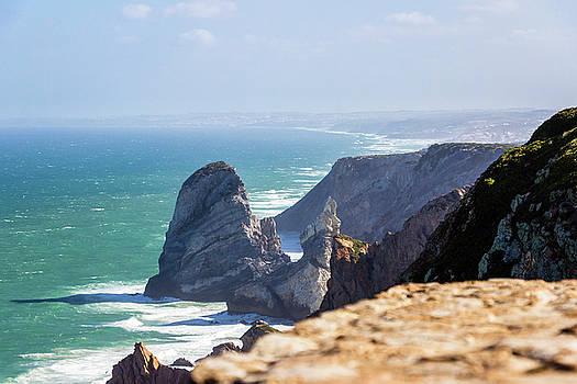 Ocean at Cabo da Roca - Portugal by Massimo Mazza